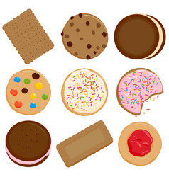 Cookies and biscuits collection vector