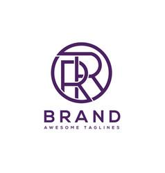 creative letter rr circle logo design elements vector image