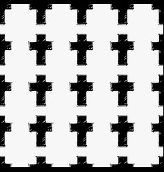 Crosses seamless pattern vector