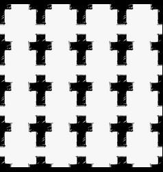 crosses seamless pattern vector image