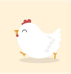 cute chicken animal vector image