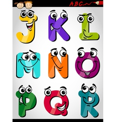 Cute letters alphabet cartoon vector