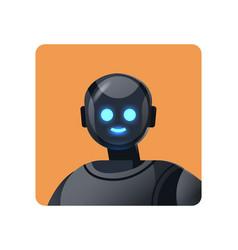 Cute robot cyborg avatar modern robotic character vector