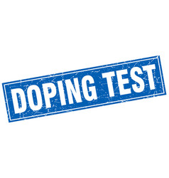 Doping test square stamp vector