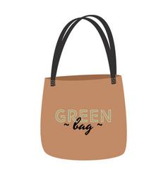 Eco bag flat simple stuff from zero vector