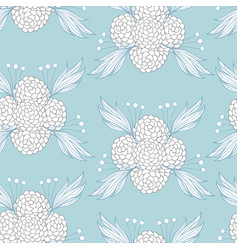floral seamless background pattern of hand - drawn vector image