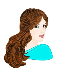 Girl-with-long-brown-hair vector