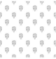 glaze ice cream pattern seamless vector image