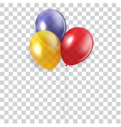 Glossy happy birthday concept with balloons vector