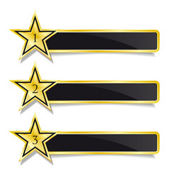 Golden banner stars step by step design vector