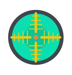 green gun aim icon flat style vector image