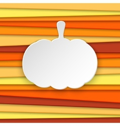Halloween pumpkin striped background with place vector image