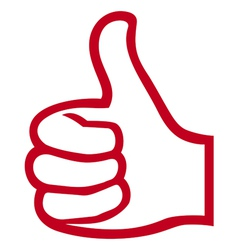 Hand giving ok-hand showing thumbs up vector