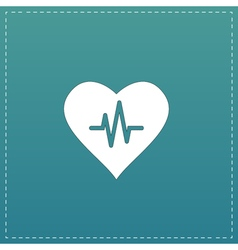 Heart with cardiogram vector