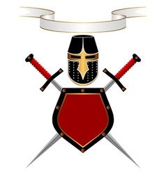 heraldic composition vector image