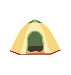 hiking and camping tent icons triangle and vector image