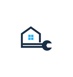house fix and repair logo icon design vector image