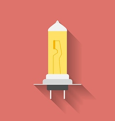 Icon of Car lamp bulb Flat style vector