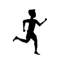 Isolated runner man design vector