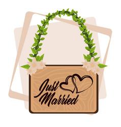 Just married cartoon vector