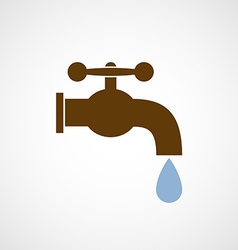 logo tap with a drop water vector image