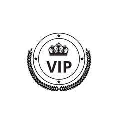 luxury badge symbol and badge with crown and vector image