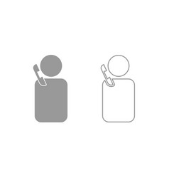 man with telephone icon grey set vector image