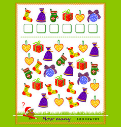 math education for children count quantity vector image
