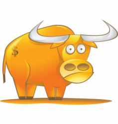 money bull vector image