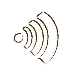 monochrome hand drawn silhouette of wifi signal vector image
