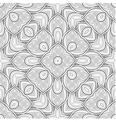 Monochrome seamless pattern with ethnic motifs vector
