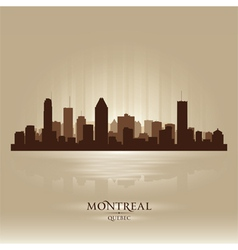 Montreal quebec skyline city silhouette vector