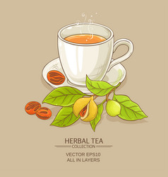 mug of nutmeg tea vector image