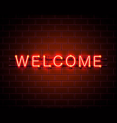 neon welcome signboard vector image