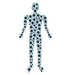 operator head person figure vector image