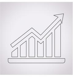 pictograph graph icon vector image