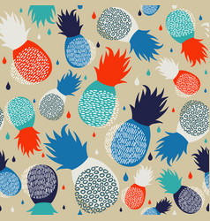 pineapple abstract seamless pattern background vector image