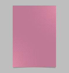 pink abstract halftone dot pattern page template vector image