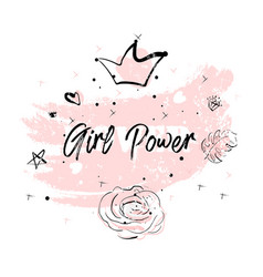 Pink blush girl power vector