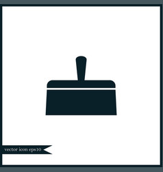putty knife icon simple vector image
