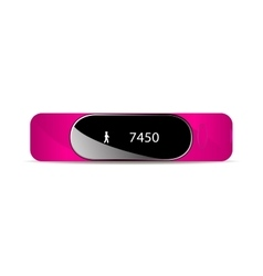 Rubber bracelet for fitness vector