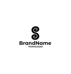 S infinity logo design vector