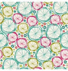 Seamless abstract doodle round summer texture vector image