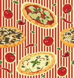 Seamless background with pizza vector
