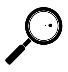 Search loupe school pictogram vector