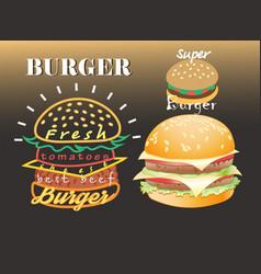 set different super colored delicious bu vector image