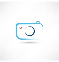 Simple blue camera icon vector image