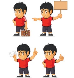 Soccer boy customizable mascot 17 vector