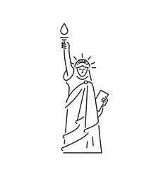 statue liberty icon symbol united vector image