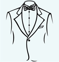 Stylish man in elegant suit vector image